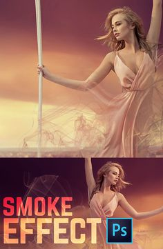 How to Create a Smoke Dispersion Effect in Photoshop CC #Photoshop #Tutorial #Retouching