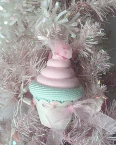 Fake Cupcake Creations is offering an original Marie Antoinette fake cupcake Christmas Tree Ornament. I made this cupcake in a mint green Christmas Cupcakes, Pink Christmas, Christmas Themes, Christmas Tree Ornaments, Christmas Decorations, Holiday Decor, Fake Cupcakes, Love Cake, Pastel Pink