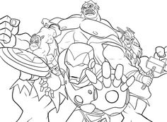 avengers coloring page | coloring pages of epicness | pinterest - Superhero Coloring Pages Kids