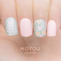 """540 Likes, 3 Comments - MoYou-London (@moyou_london) on Instagram: """"Super cute⠀ ⠀ Products used: ⠀ Plates - Trend Hunter 11 / 12⠀ Nail Polish - White Knight //…"""""""
