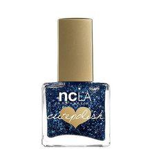 Ncla  CutePolish I'll See Ya Next Time Blue Glitter Nail Polish . fl... (€12) ❤ liked on Polyvore featuring beauty products, nail care, nail polish, makeup, beauty, cosmetics, nail, ncla, ncla nail lacquer and ncla nail polish
