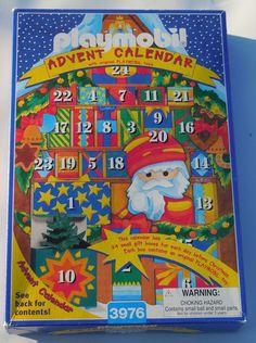 """Retro PLAYMOBIL 3976 Advent Calendar (W/ Original Toys) """"98 #PLAYMOBIL"""