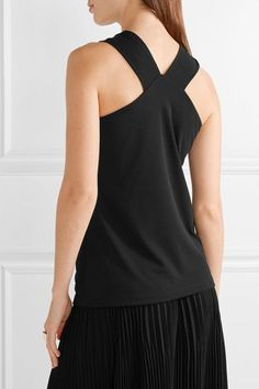 Michael Kors Collection - Twist-front Stretch-jersey Top - Black - x large