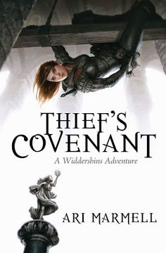 Thief's Covenant by Ari Marmell - Olgun is a god who has lost all of his worshipers except one... a young lady turned thief. In desperation Olgun makes a deal. He will inhabit young Widdershins and help her in her nefarious endeavors and she in turn will keep him from fading away into nothingness...