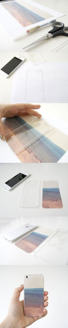SUPER cheap phone case idea :) and you can reuse it and replace the image as many times as you would like!  I bet you could find a clear one like this for 5 bucks.