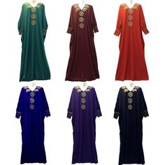 Turkish Hand Bead Bat Sleeve Abaya Middle East Muslim Women Robe Islamic Robe