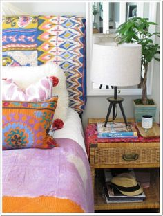 Amber Interior Design: Seen and Heard | Emily A. Clark | Bohemian Decor | Upholstered Headboard