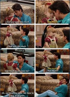 Uncle Jesse and Michelle. So cute!