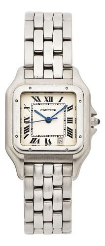 Estate Jewelry:Watches, Cartier Unisex Stainless Steel Panthere Watch. ...