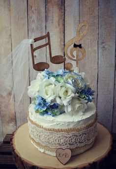 Music lover wedding cake toppermusic by MorganTheCreator on Etsy, $30.00