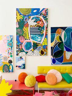 hley Mary is a Minnesota-based multi-disciplinary Painting Inspiration, Art Inspo, Abstract Shapes, Abstract Art, Abstract Painters, Decoration, Cool Art, Graffiti, Illustration Art