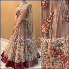 Parisian Pastels 🌸🌼🌿themahanwedding desicouture desifashion desibride mischbcouture bollywoodfashion bollywoodstyle… is part of Indian designer outfits - Indian Wedding Gowns, Indian Bridal Outfits, Indian Bridal Lehenga, Indian Bridal Fashion, Pakistani Bridal Dresses, Indian Designer Outfits, Indian Dresses, Saree Wedding, Wedding Dress