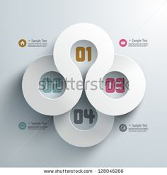 Abstract 3D Paper Infographics by yienkeat, via ShutterStock