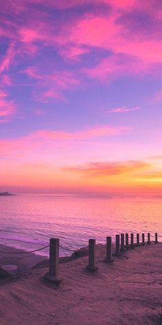 HD wallpaper Cooper Copii: Most beautiful nature wallpaper for everyone Beach Sunset Wallpaper, Scenery Wallpaper, Iphone Wallpaper Sky, Pink Wallpaper, Pastel Sunset, Sunset Sky, Pretty Sky, Beautiful Sky, Beautiful Beaches