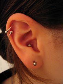 double helix piercing.