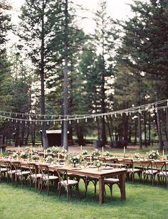 Montana woodsy ceremony