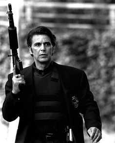 Pacino in Heat w/FN FNC-80 5.56NATO Rifle, and Colt M1991A1 Officers Model .45 ACP...