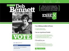 Deb Bennett came to the Wired Solutions team to help with her campaigning efforts by creating a simple website that matched her existing marketing and gave the voters some important information on the candidate. The simple site had to compete with the growing trends in creative web campaigning. This was accomplished with bold graphics, stand out colours and an easy to understand message.