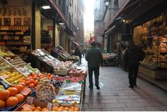 Bologna, Italy features lovely old streets, great markets - and fabulous, fresh food.