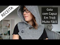 Gola com Capuz Fácil em Tricô - Passo a passo por Rosiene - YouTube Crochet Simple, Magenta, Winter Outfits, Winter Hats, Crochet Hats, Knitting, Sewing, Blog, Clothes