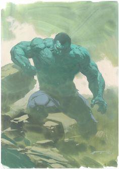 The Hulk by Esad Ribic Comic Book Artists, Comic Artist, Comic Books Art, Marvel Comic Universe, Marvel Comics Art, Silver Surfer, Secret Wars, Uncanny Avengers, Fictional Heroes