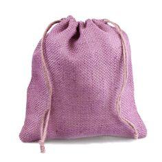 """Lavender Burlap Bag w/ Jute Drawstring - 10"""" x 12"""" (10 Pack)"""