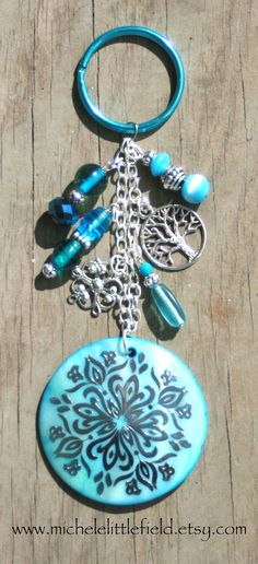 Pretty Beaded Keychain Or Purse Charm by Michele Littlefield, $15.00