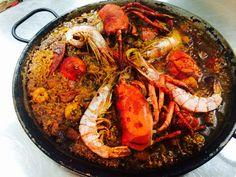 Paella of fresh seafood/de marisco fresco @Pantalan Gastro Wine Bar Puerto Pollensa, Mallorca