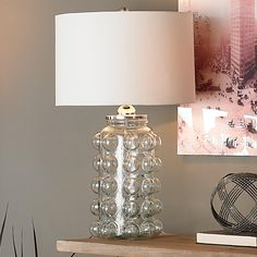 Bubbles Glass Table Lamp