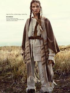"Elle Sweden November 2014 ""Naturbarn"" photography Eric Josjo model Stina Olsson styling Lisa Lindqwister hair Ignacio Alonso mu Erika Svedjevik"