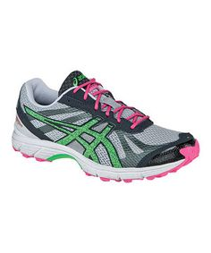 Look what I found on #zulily! ASICS Gray & Neon Green GEL®-FujiRacer Running Shoe - Women by ASICS #zulilyfinds