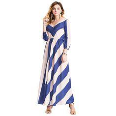 Leelerd Women's Boho Stripe Long Maxi Chiffon Dress Eveni... https://www.amazon.com/dp/B01EHC5PHO/ref=cm_sw_r_pi_dp_VXBKxbB8KTPV7