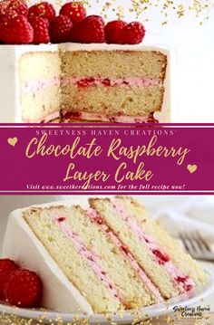 WHITE CHOCOLATE RASPBERRY LAYER CAKE RECIPE. Delicious, Tasty & Easy homemade family tradition Recipes in 'SHC CAKE RECIPES' blog page. Visit www.sweethcreations.com for your BEST HOME BAKED CAKE RECIPES now! #sweetnesshavencreations #cakes #minicakes #cakerecipes #homemadedessert #homemade #homemaderecipes #besthomemadecakes #dessert #dessertrecipes #recipes