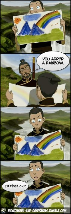 I actually really liked this episode. So much. I wasn't all that bothered about Sokka at first but oh my god I love him now.