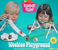 Weebles Playground 1973 Romper Room Complete Playset in Original Box via Etsy