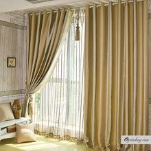 Elegant Gold Polyester Totally Blackout Lined Curtains , Buy Gold Blackout Curtains, Cheap Fiber Polyester Curtains Sale French Door Curtain Panels, Sidelight Curtains, Blinds For French Doors, Sliding Door Curtains, Patio Door Curtains, Bay Window Curtains, French Curtains, Lined Curtains, Curtains With Blinds