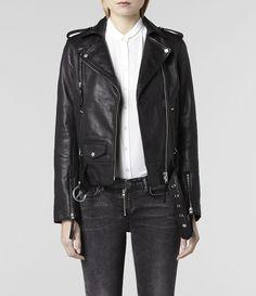 All Saints Leather Jacket @CO DE + / F_ORM