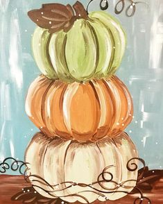 Stack o' Pumpkins Paint & SipSip little canvas, canvas banner, photo canvas diy Fall Canvas Painting, Autumn Painting, Autumn Art, Diy Canvas, Diy Painting, Fall Paintings, Canvas Painting Tutorials, Pumpkin Painting, Pumpkin Art
