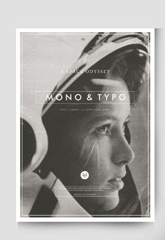 MONO&TYPO No. 2 by Daniel Barba, via Behance