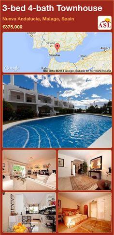 3-bed 4-bath Townhouse in Nueva Andalucia, Malaga, Spain ►€375,000 #PropertyForSaleInSpain