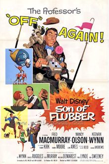 Son of Flubber is the 1963 black-and-white sequel to the Walt Disney children's movie comedy The Absent-Minded Professor 1960s Movies, Old Movies, Vintage Movies, Indie Movies, Disney Movie Posters, Old Movie Posters, Disney And More, Disney Love, Walt Disney