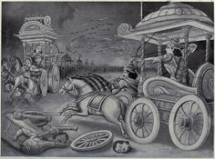 Indian Epics: Images and PDE Epics: Images: Abhimanyu