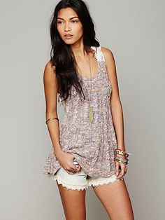 Crochet Back Pullover Tank Free People $88