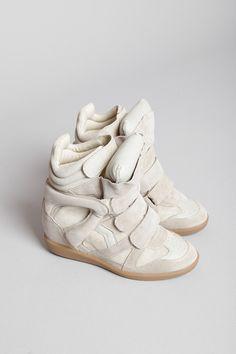 Totokaelo - Isabel Marant - Bekett Hightop Sneakers - Beige