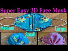 Easy Homemade Face Masks, Easy Face Masks, Diy Face Mask, Sewing Hacks, Sewing Crafts, 3d Face, Mask For Kids, Clothes Crafts, Diy Mask