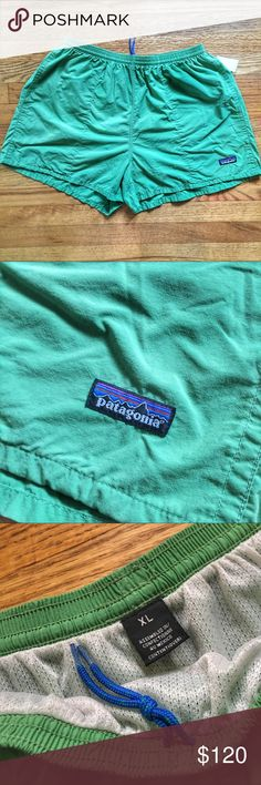 Vintage Patagonia Swim Trunks - XL Vintage Patagonia Swim Trunks - XL.  Pre-owned in mint condition.  Might have never been used.  Color is a pale green. See something you like but it's not here next week? We sell in store and across multiple platforms, so items go quick! If you're interested, act on it! Patagonia Swim Swim Trunks