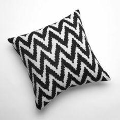 Crewel Zigzag Decorative Pillow Living Room/ Bedroom