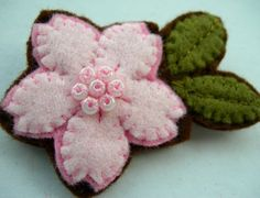 Felt Sakura Blossom by lupin