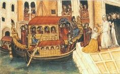 """The Doge's """"Marriage with the Sea,"""" anonymous 16th Century miniature (image is in the Public Domain)."""