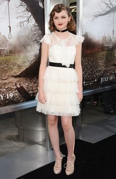 Joey King attending the Los Angeles premiere of 'The Conjuring' at the Cinerama Dome in Hollywood, California - July 15, 2013 - Photo: Runway Manhattan/Bauer-Griffin